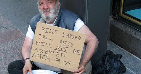 So erbetteln Obdachlose mehr Geld (Bild: Todd Norem)