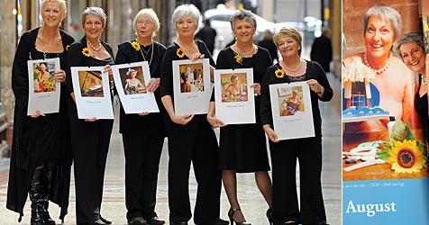 """Englische """"Kalender Girls"""" strippen wieder (Bild: AFP)"""