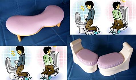 Schemel für die Toilette soll für Sauberkeit sorgen (Bild: House Doctor/Japan)