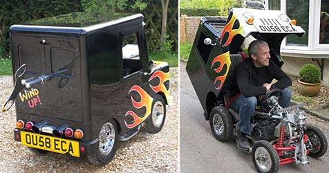 Brite baut kleinstes zugelassenes Auto der Welt (Bild: www.windupcar.co.uk)