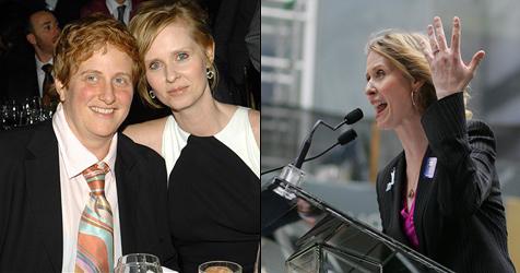Cynthia Nixon hat sich mit ihrer Freundin verlobt