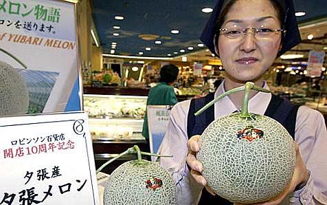"""Teuerste Melonen der Welt als """"Schnäppchen"""""""