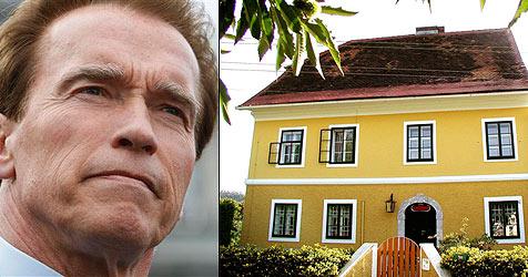 "Arnold Schwarzeneggers Geburtshaus ""for sale"" (Bild: APA-FOTO: WOLFGANG WEHAP)"