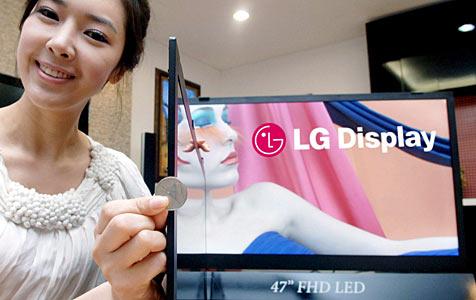 LG präsentiert dünnsten LCD- Fernseher der Welt (Bild: EPA)