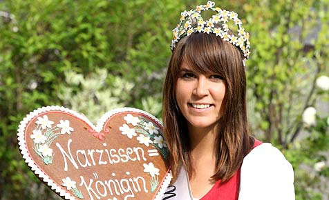 Stefanie regiert ab jetzt als Narzissenkönigin 2009 (Bild: Jürgen Radspieler)
