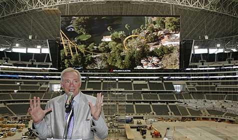 Größte TV-Bildschirme der Welt hängen in Dallas