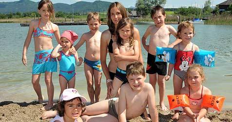 "Sonniger Feiertag lockt 7.000 Badegäste ins ""Lepi"" (Bild: Wolfgang Weber)"
