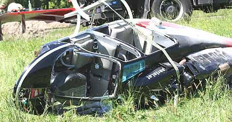 Pilot bei Hubschrauberabsturz leicht verletzt (Bild: Marion Hörmandinger)