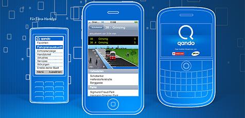 Öffi-App der Wiener Lienen bestes IT-Projekt 2009 (Bild: Qando.at)