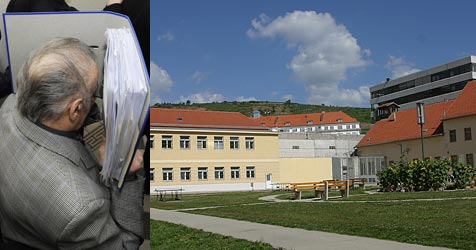 Josef F. in Justizanstalt Stein verlegt (Bild: APA/Helmut Fohringer/Apa-Pool/Peter Tomschi)