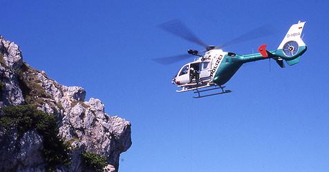 Schwieriger Einsatz für drei in Bergnot geratene Wanderer (Bild: Bayerische Polizei)