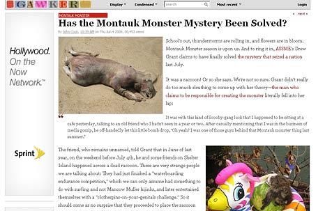 """Herkunft des """"Montauk-Monsters"""" vielleicht geklärt (Bild: gawker.com)"""