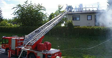 Wohnhausbrand bei Schärding - hoher Schaden (Bild: Feuerwehr)