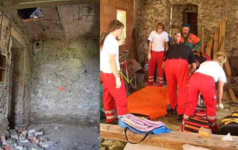 Häuslbauer stürzt vier Meter in die Tiefe (Bild: ÖAMTC)