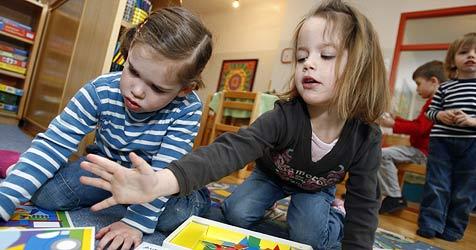 """Kindergärtnerinnen fühlen sich """"im Stich gelassen"""" (Bild: APA/HARALD SCHNEIDER)"""
