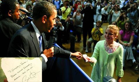 Mädchen kriegt Entschuldigung von Obama (Bild: EPA/AP)