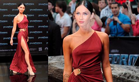 Megan Fox sorgt mit Schlangen-Kleid für Staunen