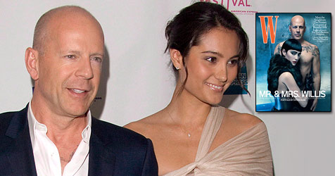 Bruce Willis posiert als Nacktsklave seiner Frau