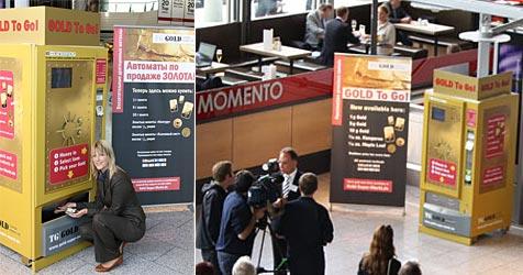 Automat bietet kleine Goldbarren an (Bild: TG-Gold-Super-Markt)