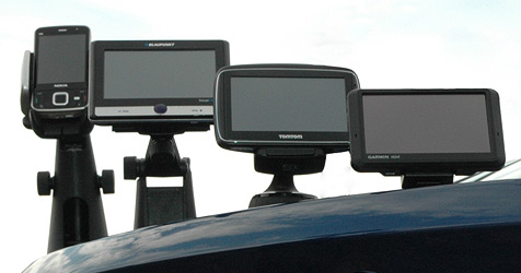 Navigationsgeräte im Test (Bild: ÖAMTC)