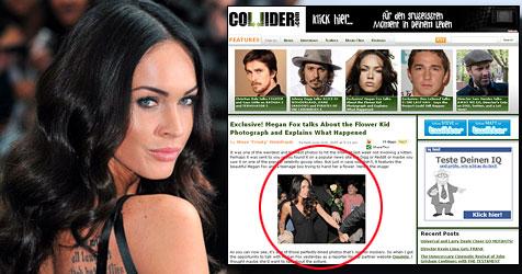"Megan Fox entschuldigt sich beim ""Rosen-Buben"" (Bild: EPA; Screenshot Collider.com)"