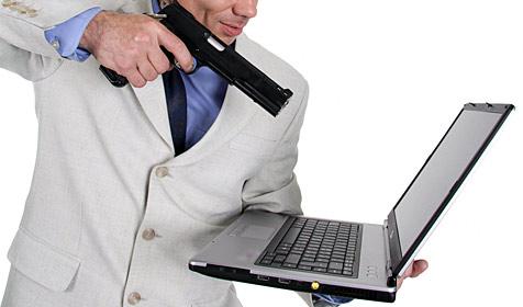 Frustrierter Italiener erschießt Computer (Bild: © [2009] JupiterImages Corporation)
