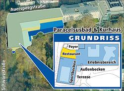 Paracelsus-Bad soll völlig neu gebaut werden (Bild: Krone Grafik)