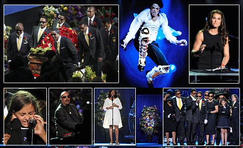 Ergreifender Abschied von Michael Jackson