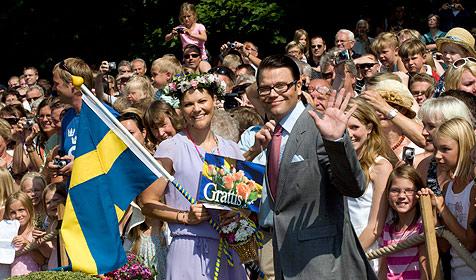 Schweden gratulierten Kronprinzessin Victoria