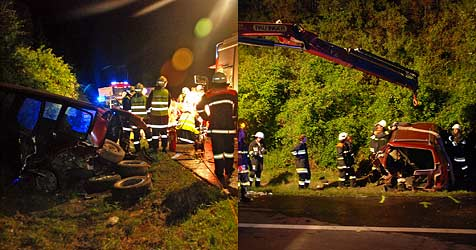 Vier Fahrzeuge in Unfall verwickelt (Bild: Herbert Wimmer/BFK-Mödling)