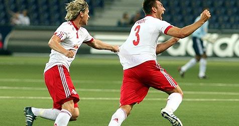 Salzburg bei Aufstieg gegen Jerewan oder Zagreb (Bild: APA/Daniel Krug)