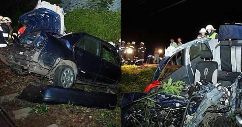 Zwei schwere Kollisionen auf Bahnübergängen (Bild: FF Krems)