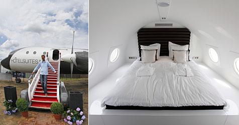 Umgebautes Flugzeug wird in Holland zum Hotel