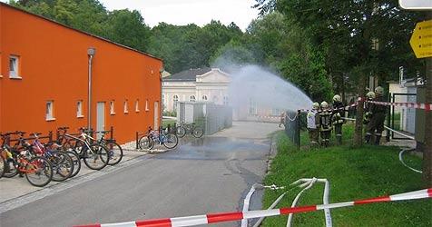 Freibad in Bad Hall musste evakuiert werden (Bild: Feuerwehr Bad Hall)