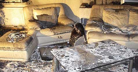 Kinder holen Hilfe - Wohnzimmer ausgebrannt (Bild: FF Hartkirchen)