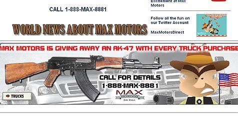 US-Autohändler verschenkt Sturmgewehre (Bild: Max71.com)