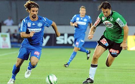 Wiener Neustadt kassiert 0:3-Pleite gegen die SV Ried (Bild: APA/Herbert Pfarrhofer)