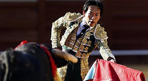 Japaner will erster Torero seines Landes werden (Bild: AP)