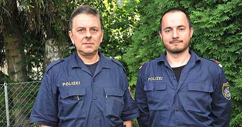 Polizisten retten Mann vor dem Ertrinken (Bild: Horst Einöder)