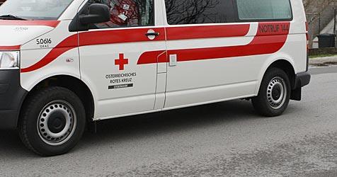 """Rot-Kreuz-Wagen wurde zum """"Baby-Express"""" (Bild: Jürgen Radspieler)"""