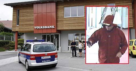 Molliger Bankräuber nervt seine Verfolger (Bild: Manfred Fesl / Polizei)