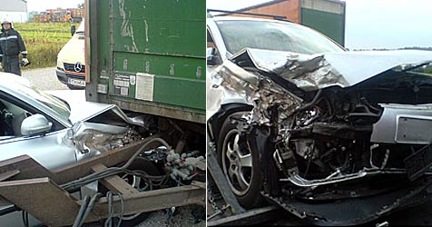 Wespenstich löst Verkehrsunfall aus (Bild: FF Zwettl)