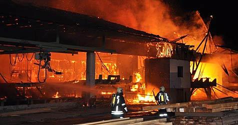 Sägewerk im Bezirk Melk völlig abgebrannt (Bild: Bfkdo Melk)