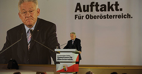 """Wahlkampfauftakt um das """"schönste Land"""" (Bild: Chris Koller)"""