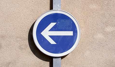 Städtestreit: Einbahn mit zwei Fahrtrichtungen (Bild: © [2009] JupiterImages Corporation)
