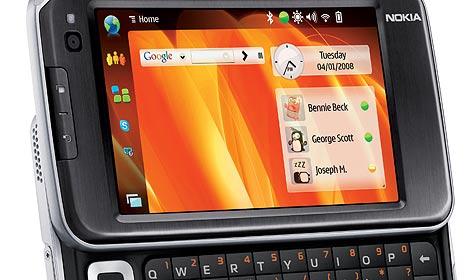 Handy-Display von Nokia zeigt Filme in 3D (Bild: Nokia)