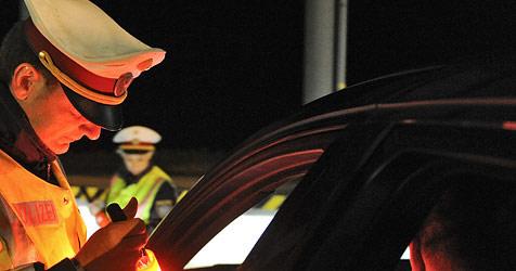Alkolenker fuhr auf Bremsscheibe und Felgenrest weiter (Bild: APA/Herbert Neubauer)