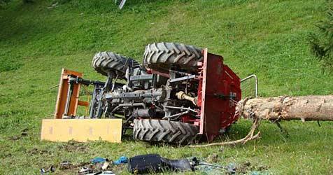 Landwirt bei Traktorunfall getötet (Bild: FF Frankenfels)