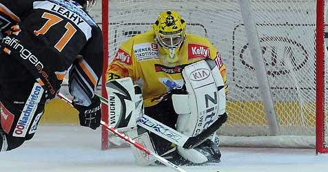 Black Wings Linz verlieren bei den Capitals mit 2:3 (Bild: APA/ANDREAS PESSENLEHNER)
