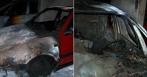 Drei Autos in Flammen aufgegangen (Bild: FF St. Pölten)